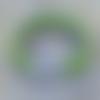 Bracelet vert fermoir strass