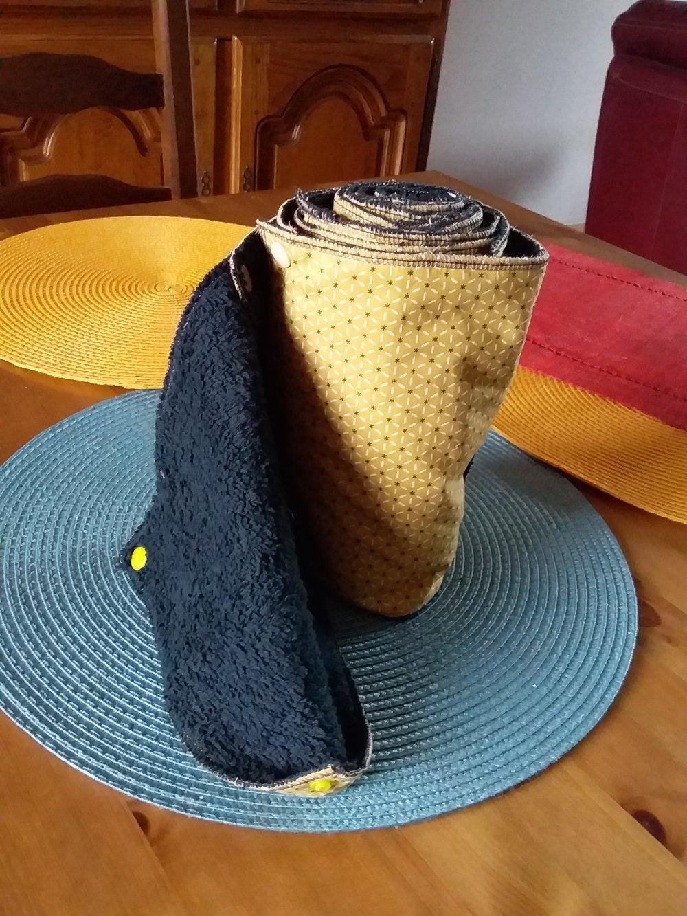 Essuie-tout lavable jaune et noir