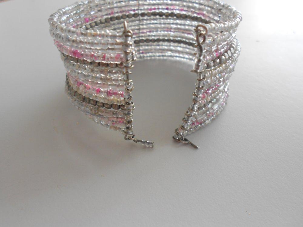 Bracelet multi rangs rose
