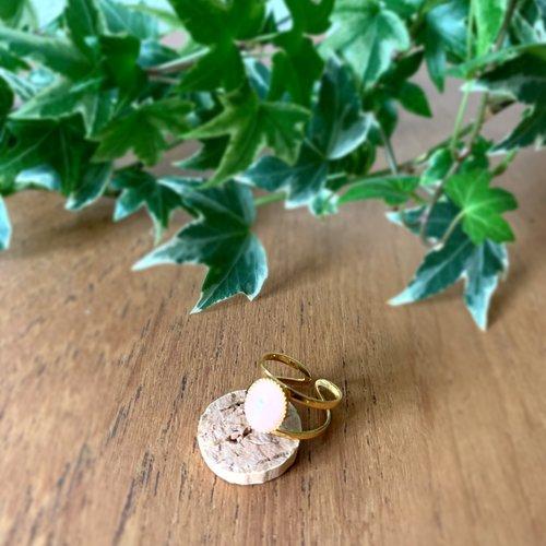 Bague ajourée doré/rose