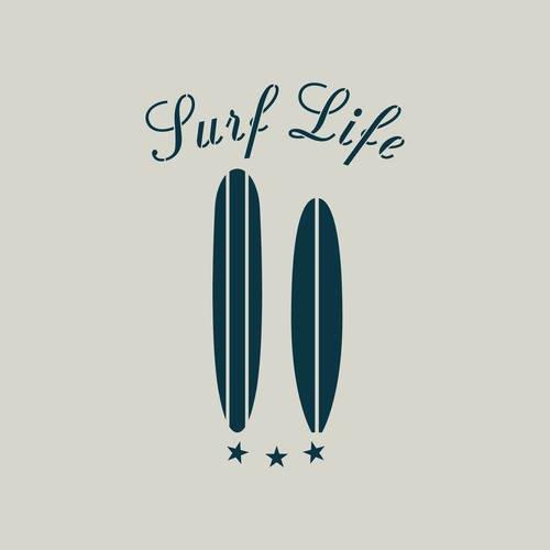 Pochoir De Surf Pochoir Planche De Surf Ref 693 1 Un Grand Marche