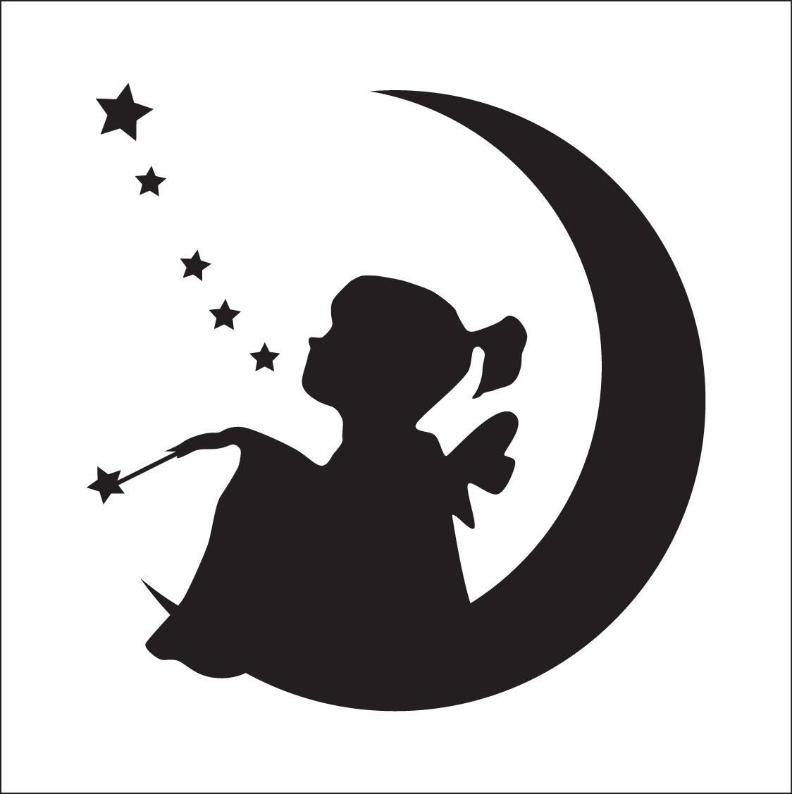 Fée. Pochoir fée. Silhouette de fée (ref 309)