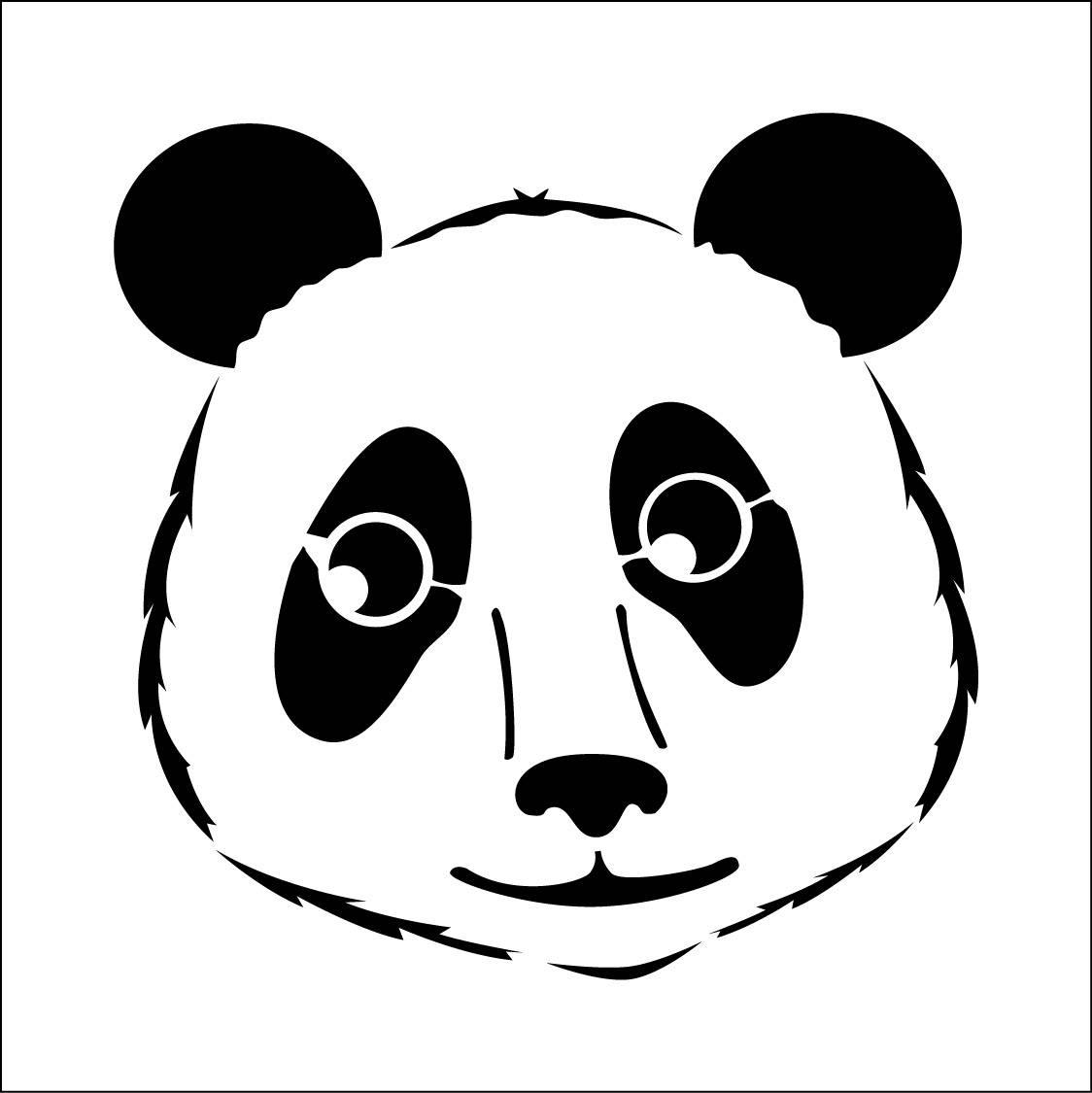 Panda Pochoir Panda Dessin Panda Pochoir Ours Ref 249 1