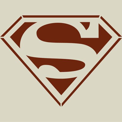 Superman Pochoir Superman Pochoir En Vinyle Adhesif Ref 234