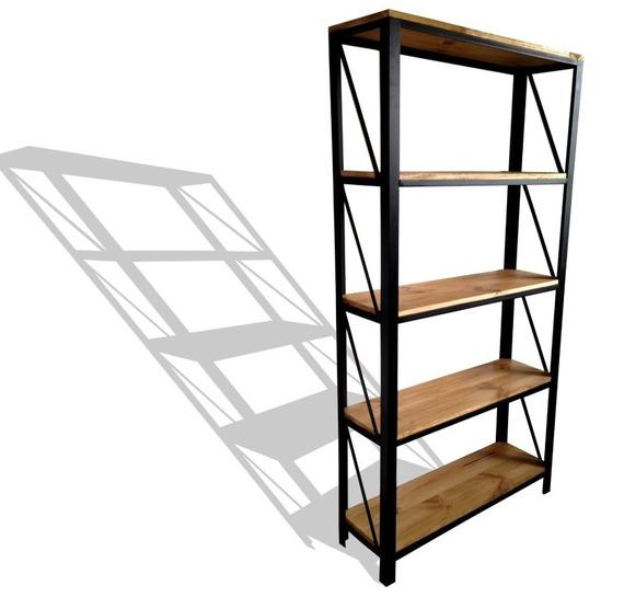 Etagère acier et bois style industriel