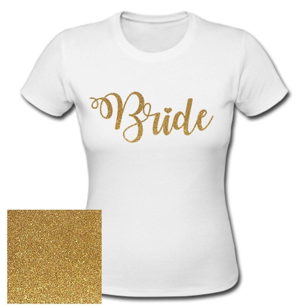 T-shirt BRIDE,glitter gold , evjf, mariage, after wedding, brunch wedding