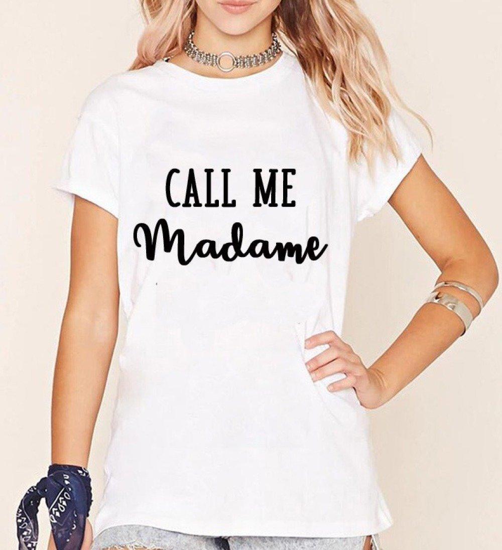 T-shirt call me madame, evjf, mariage, after wedding, brunch wedding