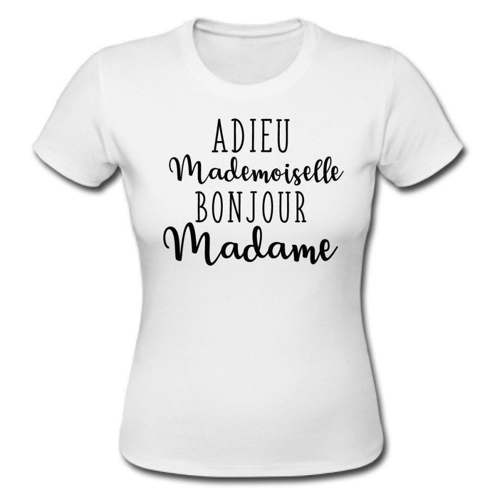 T-shirt ADIEU MADEMOISELLE BONJOUR MADAME, evjf, mariage, after wedding, brunch wedding