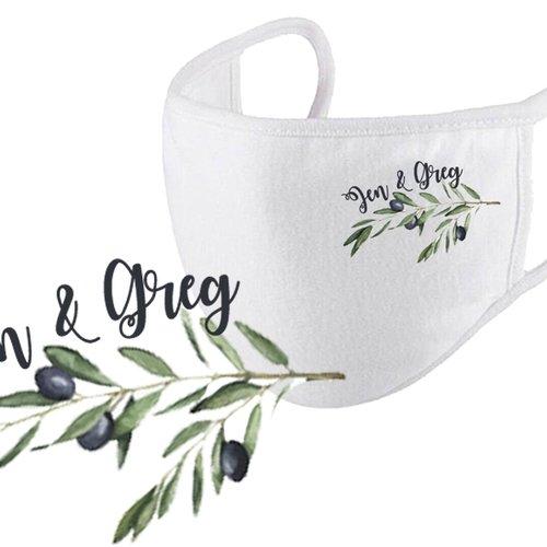 Masque de protection respiratoire personnalisé pour mariage