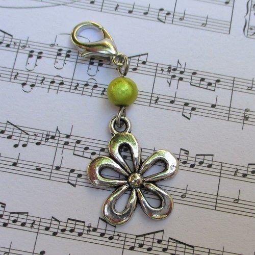 Idée cadeau - bijou fermeture éclair breloque fleur, pendentif, sac, porte clés, trousse, cartable, gilet...