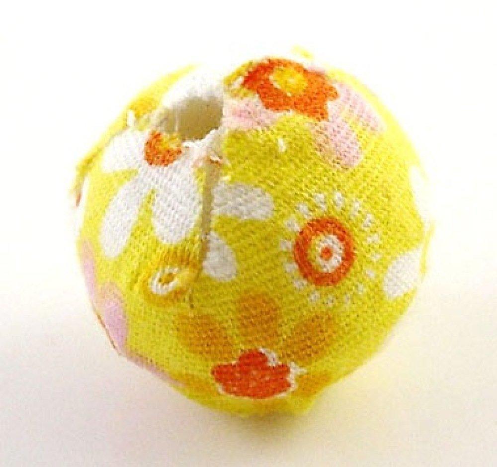 X10 perles tissu fleurs 20mm