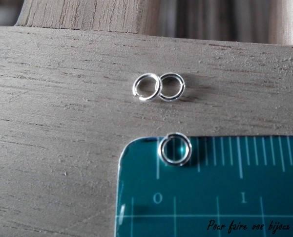 x300 anneaux ouvert 4mm argente