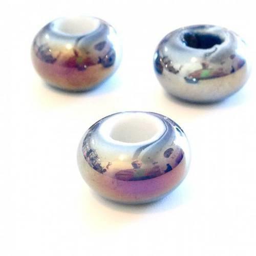 ❤ x2 rondelles effet ab 15mm céramique ❤