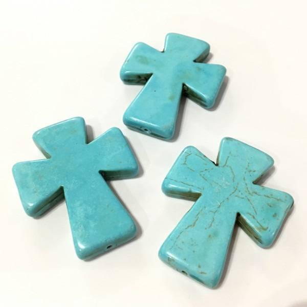 ❤ X5 croix pierre 50mm ou 5cm ❤