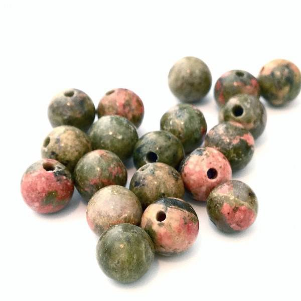 ❤ X50 unakite perles pierre 4mm ❤