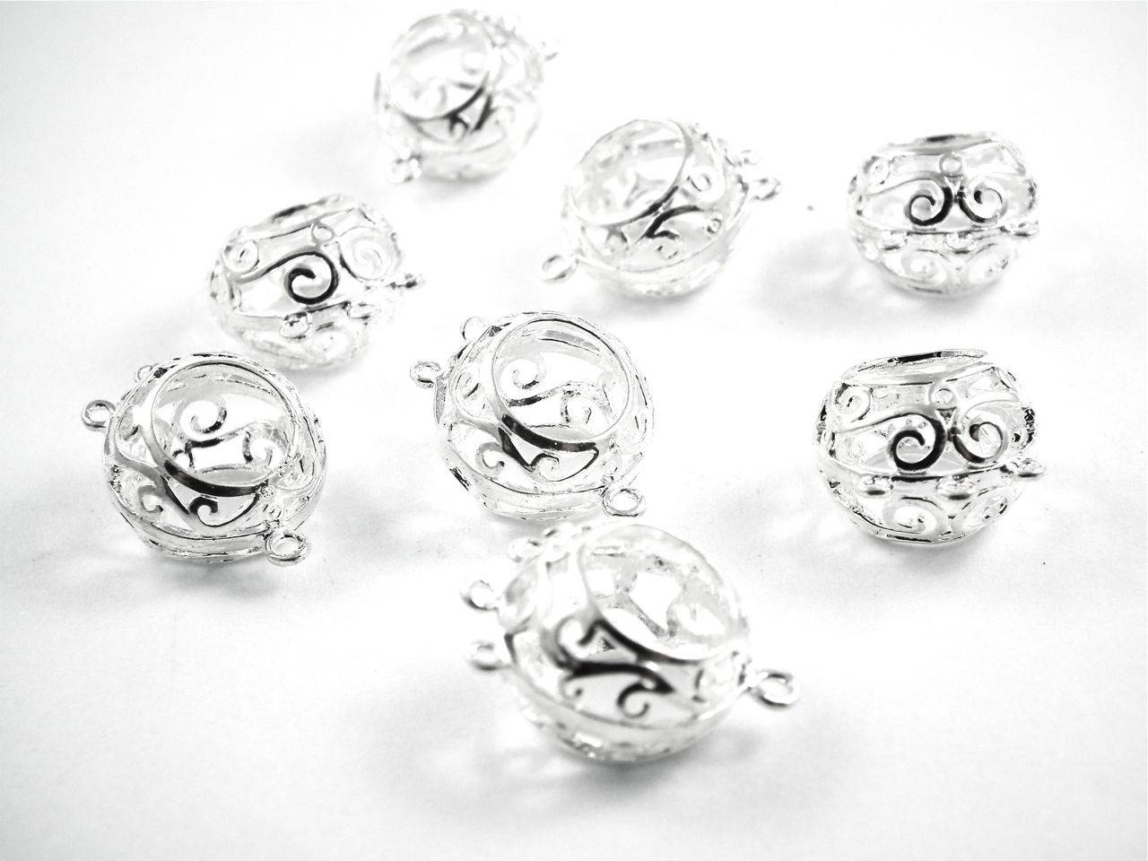 X2 chandeliers boucles d'oreilles 19mm argentés (soit une paire de boucle)