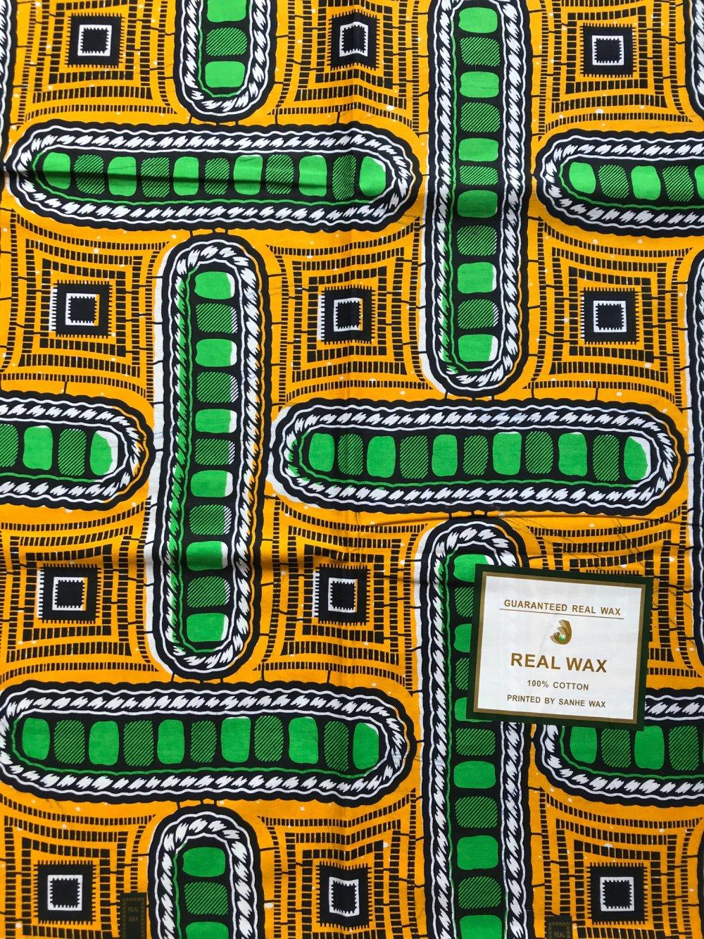 Tissu wax africain qualité premium, 1 mètre x 110com