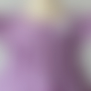 Ensemble 12 mois blouse vichy violet et pantalon blanc