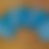 7 lingettes lavables douces, bleu canard, à motifs