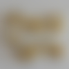 10 connecteurs perles rondes verre champagne nacré 4mm