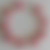1 bracelet connecteur superduos rose opaque à personnaliser  -18cm