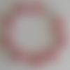 1 bracelet connecteur superduos rose foncé à personnaliser  -18cm