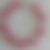 1 bracelet connecteur superduos rose transparent à personnaliser  -18cm
