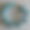 1 bracelet perles rocailles verre (2.5mm) bleu nacré à personnaliser réglable -18/23cm