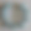 1 bracelet perles rocailles verre (2.5mm) bleu ciel nacré à personnaliser réglable -18/23cm