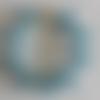 1 bracelet perles rocailles verre (2.5mm) bleu lined argenté à personnaliser réglable -18/23cm