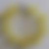 1 bracelet perles rocailles verre (2.5mm) jaune transparent à personnaliser réglable -18/23cm