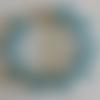 1 bracelet perles rocailles verre (2.5mm) bleu transparent à personnaliser réglable -18/23cm