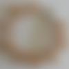 1 bracelet perles rocailles verre (2.5mm) beige transparent à personnaliser réglable -18/23cm