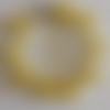 1 bracelet perles rocailles verre (2.5mm) jaune opaque à personnaliser réglable -18/23cm