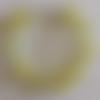 1 bracelet perles rocailles (1.5mm)/rondes (8mm) jaune lined argenté/jaune craquelé à personnaliser réglable -17.5/22.5cm