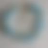 1 bracelet perles rocailles (2mm)/rondes (8mm)  lined bleu/bleu nacré à personnaliser réglable -17.5/22.5cm