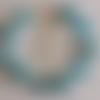 1 bracelet perles rocailles (2mm)/rondes (8mm) bleu nacré/craquelé bleu à personnaliser réglable -17.5/22.5cm