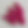 50 perles en verre nacré rose vif - 4mm