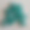 50 perles en verre nacré bleu - 4mm