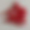 50 perles en verre nacré rouge clair - 4mm