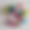 20 perles en verre craquelé multicolore - 6mm