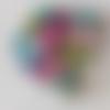 20 perles en verre multicolore/noir - 6mm