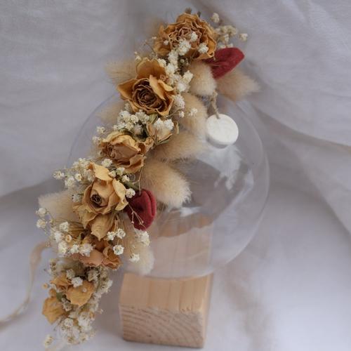 Couronne de fleurs séchées mariage- couronne de fleurs séchées femme