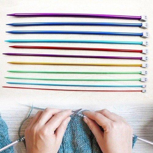Carte 2 Aiguilles /à tricoter /à boule 40cm 3.5mm Prym