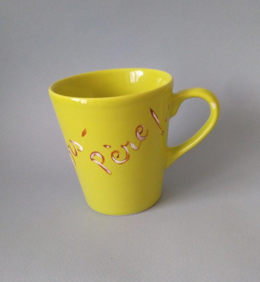 Mug moustache jaune