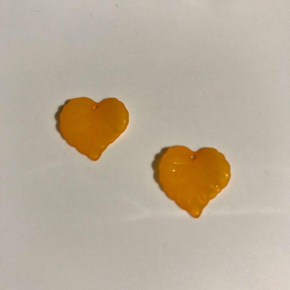 2 feuilles en lucite dépoli 15mm orange