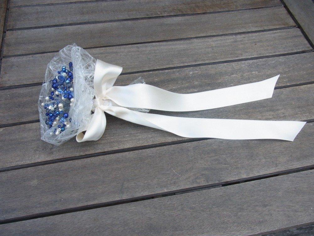 bouquet mariage bleu/bouquet pour mariée/accessoire décoration mariage