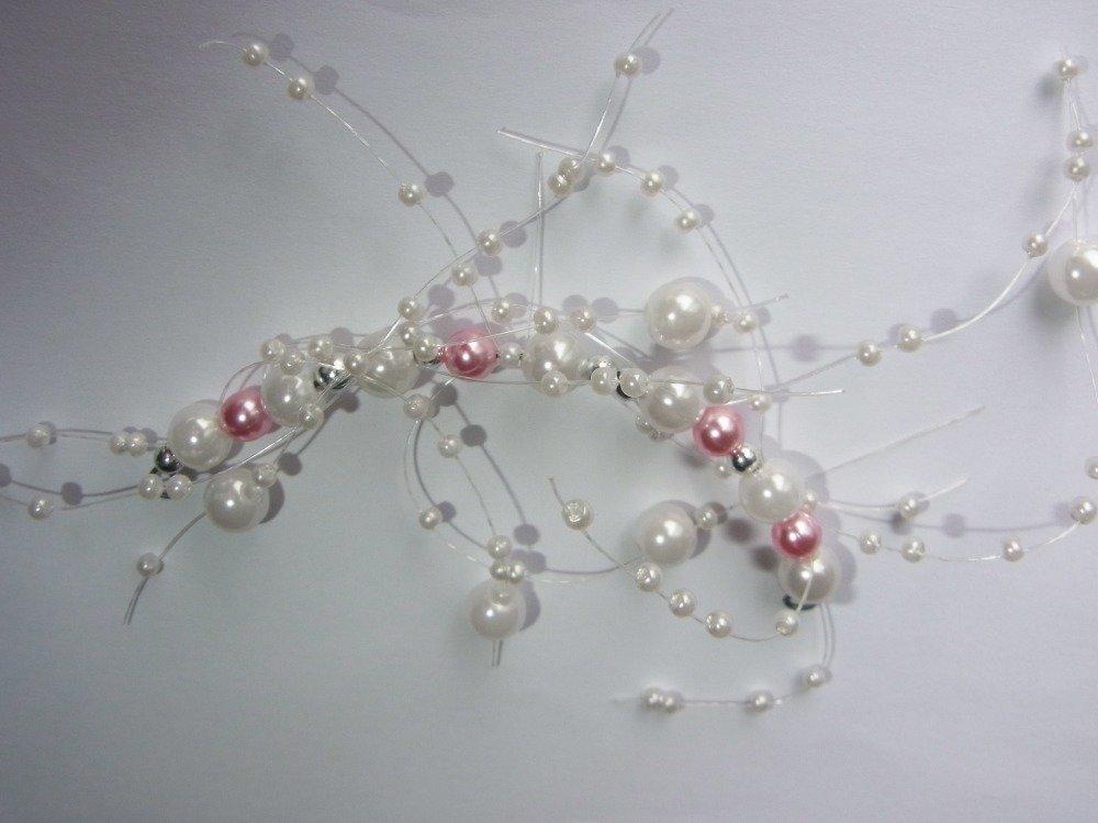 pic cheveux rose pour coiffure mariage/bijou de cheveux mariée/accessoire cérémonie fille