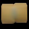 """Barrette à cheveux en bois - """"la taillée"""" - blanc liserés bleus"""