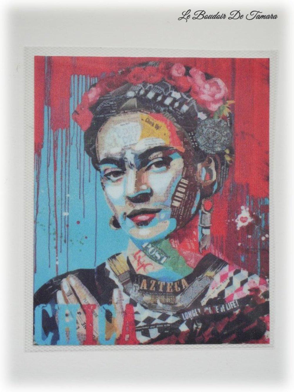 Transfert textile à chaud image Frida Kahlo 11 x 13